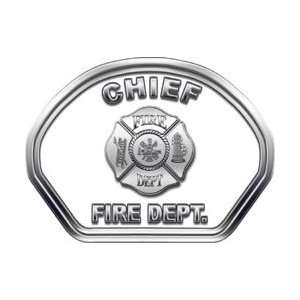 Fire Helmet Front Face Chief White Decal Reflective Automotive