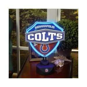 INDIANAPOLIS COLTS Team Logo NEON SHIELD TABLE LAMP (13.5 Tall & 11.5