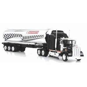 Kenworth W900 oil tanker truck, 6 pcs. Per case, red, black and silver