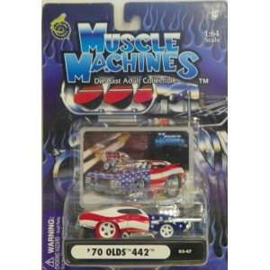 Muscle Machines 1/64 Scale Diecast 1970 Olds 442 in Color