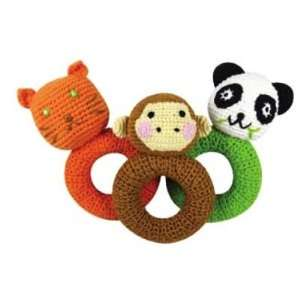 Organic Yellow Label Kids Animal Ring Rattles Toys & Games