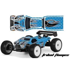 truck RC Decal Kit AMRRACING   Tribal Flame Blue Toys & Games