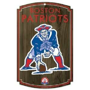 NFL New England Patriots Sign   Wood Style Vintage  Sports