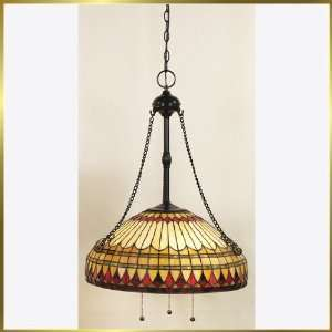 Tiffany Chandelier, QZTF1732VB, 3 lights, Antique Bronze, 20 wide X