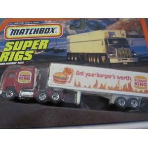Burger King Kenworth Truck   Super Rigs By Matchbox Toys & Games