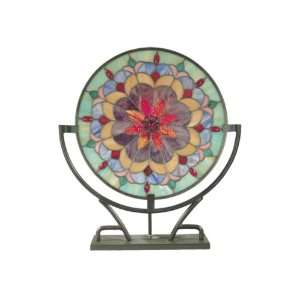 Dale Tiffany TA60244 Jenny Accent Lamp, Stand, Antique Bronze and Art