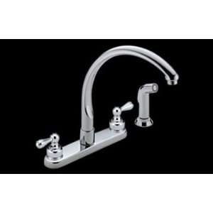 Delta 2476 LHP H25 Waterfall Two Handle Kitchen Faucet w