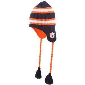 Top of the World Auburn Tigers Navy Blue Striped Waffler Toboggan Knit