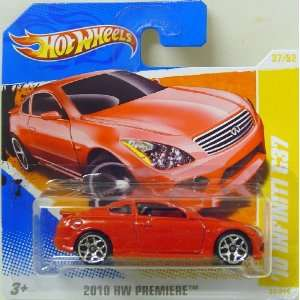 Hot Wheels 2010 Infiniti G37 In Red  Toys & Games