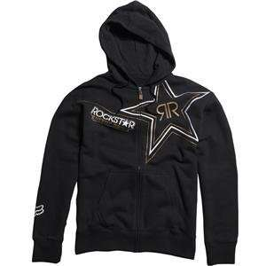 Fox Racing Rockstar Golden Fleece Zip Up Hoody   Medium
