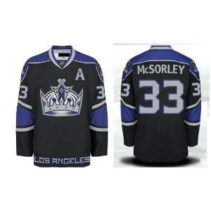 Marty McSorley #33 Los Angeles Kings Third Black Jersey Hockey Jerseys