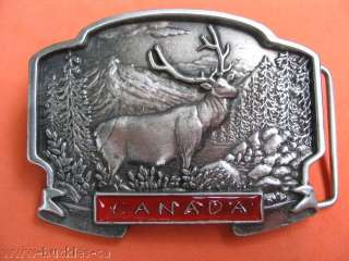 CANADA HUNTER HUNTING BIG GAME SPORTS ELK MOOSE BUCKLES