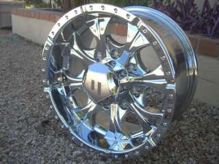 Helo Maxx CHROME WHEELS Rims Chevy GMC Jimmy Toyota Tacoma Truck 6 LUG
