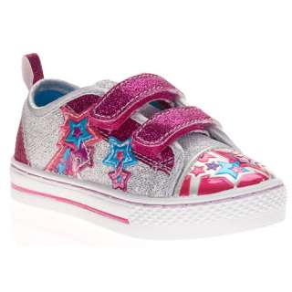 Faded Glory   Toddler Girls Kassy Star Canvas Sneakers Shoes