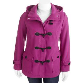 George   Womens Plus Size Hooded Toggle Coat Womens Plus