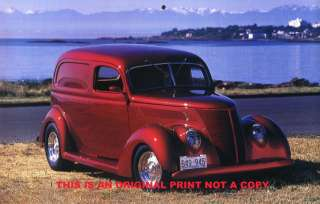 1937 Ford Sedan Delivery classic truck picture print