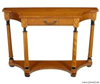 Neoclassic Cherry Wood Console Hall Table by Hekman