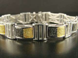 MENS WHITE GOLD FINISH DIAMOND BRACELET PAVE 3.30 CT