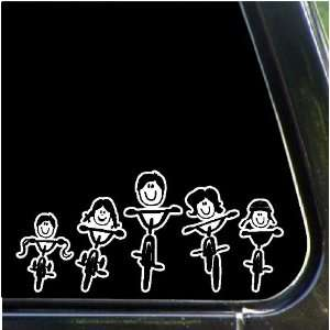 Family Car Decals Stickers Stick People Family Biking