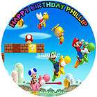 NEW SUPER MARIO Bros Edible CAKE Image Icing Topper items in Cool Cake